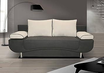 3er Sofa Anthony mit Staukasten und Bettfunktion - Abmessungen: 202 x 90 cm (B x T)