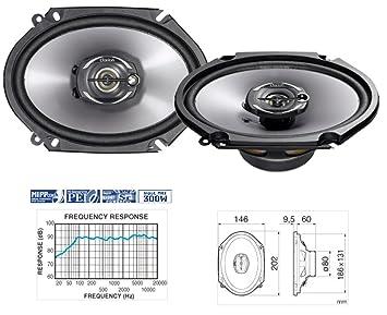 Clarion SRP1322S 2-Wege Komponenten Lautsprecher 130 mm 300 Watt Boxen Speaker