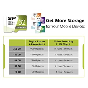 Silicon Power 32GB 10-Pack High Speed MicroSD Card with Adapter (Color: 32GB x10 Pack)