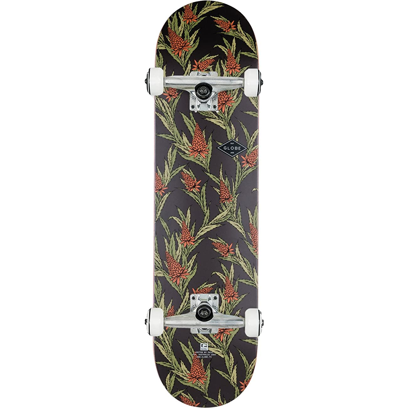 Globe Full On Vintage Black / Thistle Complete Skateboard - 8