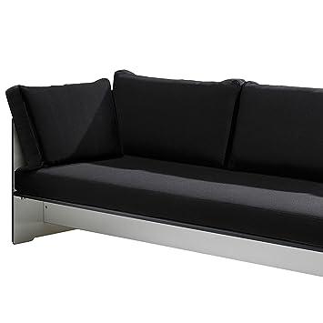 Riva Lounge Ruckenkissen 65 x 12 cm, h 45 cm - schwarz