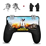 [2 Triggers+1 Gamepad] Mobile Controller - WingLike Cellphone Game Trigger/Mobile Game Controller Compatible with PUBG for Android iOS, L2R2 Sensitive Shoot Mobile Phone Joystick-Transparent (Color: Transparent)