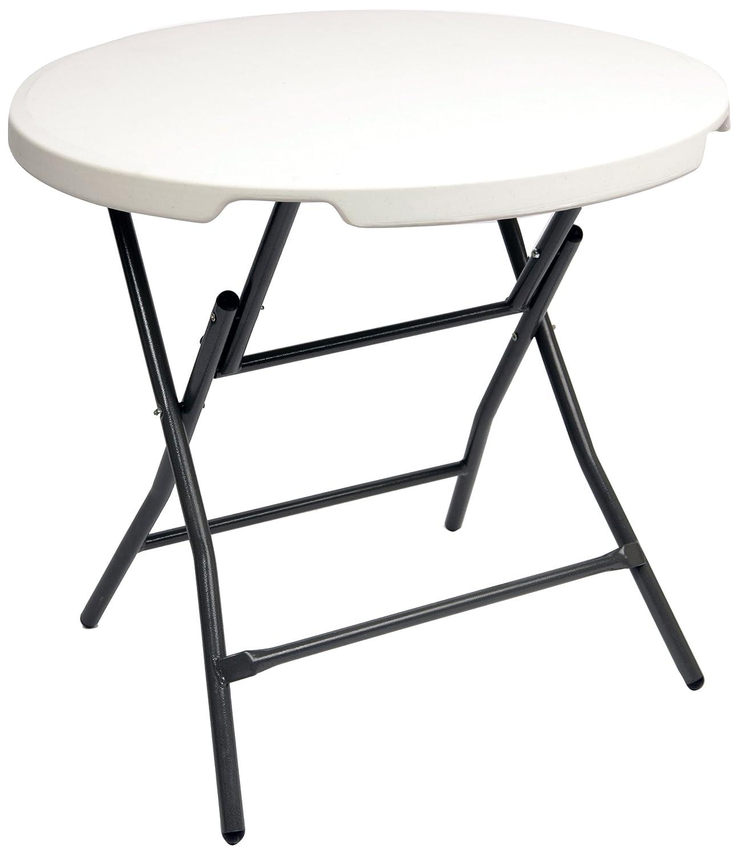 CON:P CMB407480 Gartentisch rund, klappbar, Durchmesser 80 x 74 cm