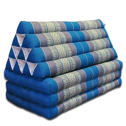 Funda de almohada de Thai de triángulo y funda de almohada de flores de colour azul claro 3 esteras Jumbo