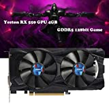 Kanzd New Yeston RX550 GPU4GB GDDR5 128bit Gaming Desktop PC Video Graphics Cards DVI/HDMI (Black) (Color: Black, Tamaño: Regular)