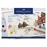 Faber-Castell Studio Quality 128336 Soft Pastel Crayons Set of 36 in Case (Color: Blue)