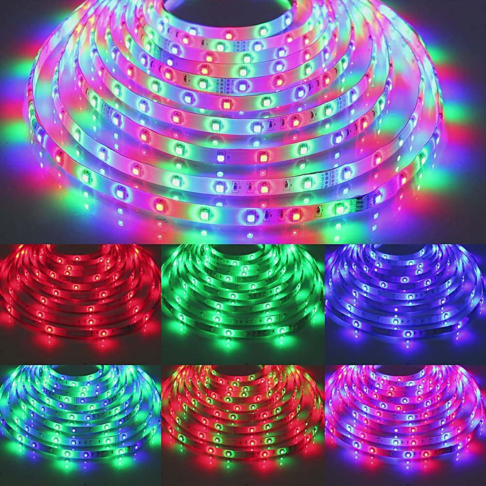 Outdoor Plug In Flexible String Lights : 180 300 Led Flexible Strip Lights 3258 SMD Outdoor Home Decor Plug In+Controller eBay