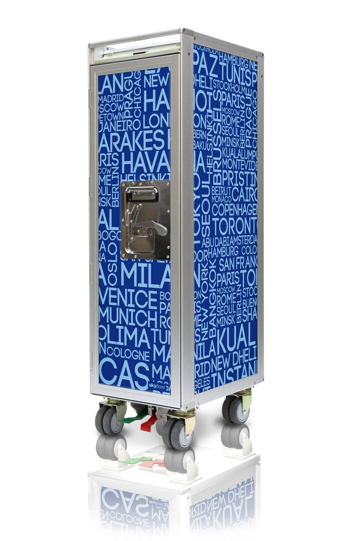 Skyboxx City blue neu Flugzeugtrolley, inklusiv 7 Kunststoffschubladen