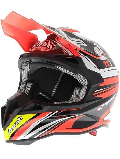 Airoh casque de moto t2TC15 terminator 2.1, rouge