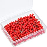 500 Pack Map Push Pins Map Tacks Small Size (Red, 1/5 Inch) (Color: Red, Tamaño: 1/ 5 Inch)