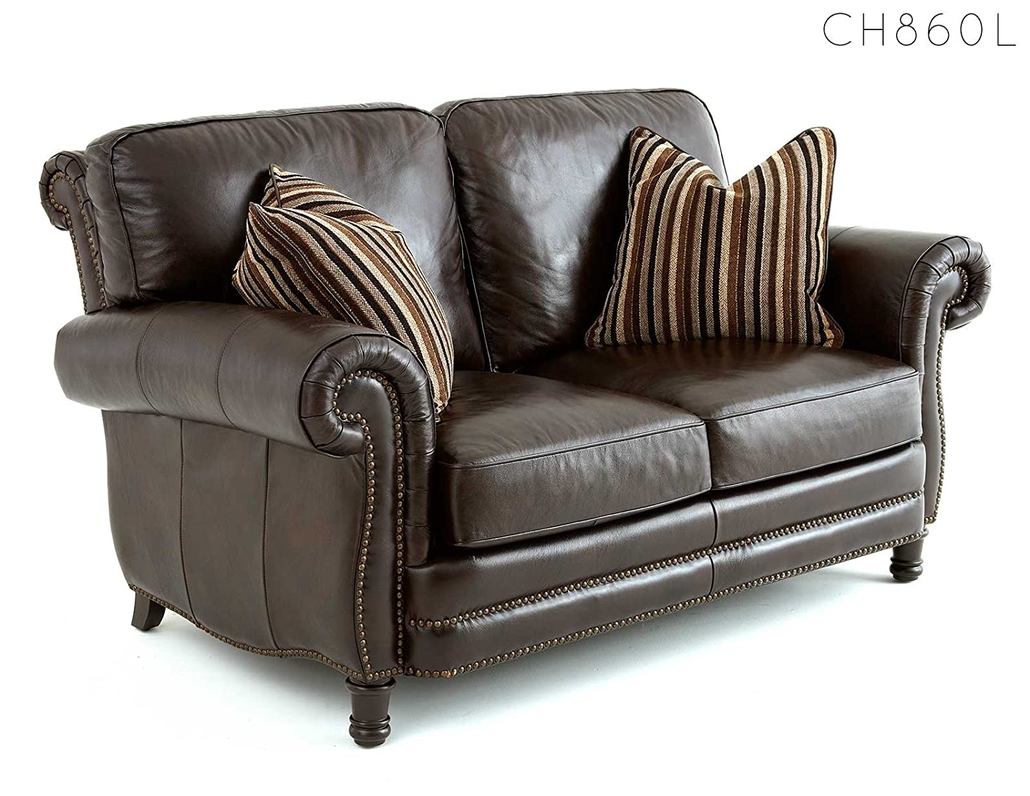 Steve Silver Company Chateau Loveseat with 2 Accent Pillows
