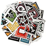 SYUSAMA 40Pcs Rainbow Six Siege R6 R6s Operators Icon Vinyl Stickers (Tamaño: 6CM)