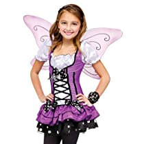 Fun World Kids Girls Purple Butterfly Fairy Halloween Costume