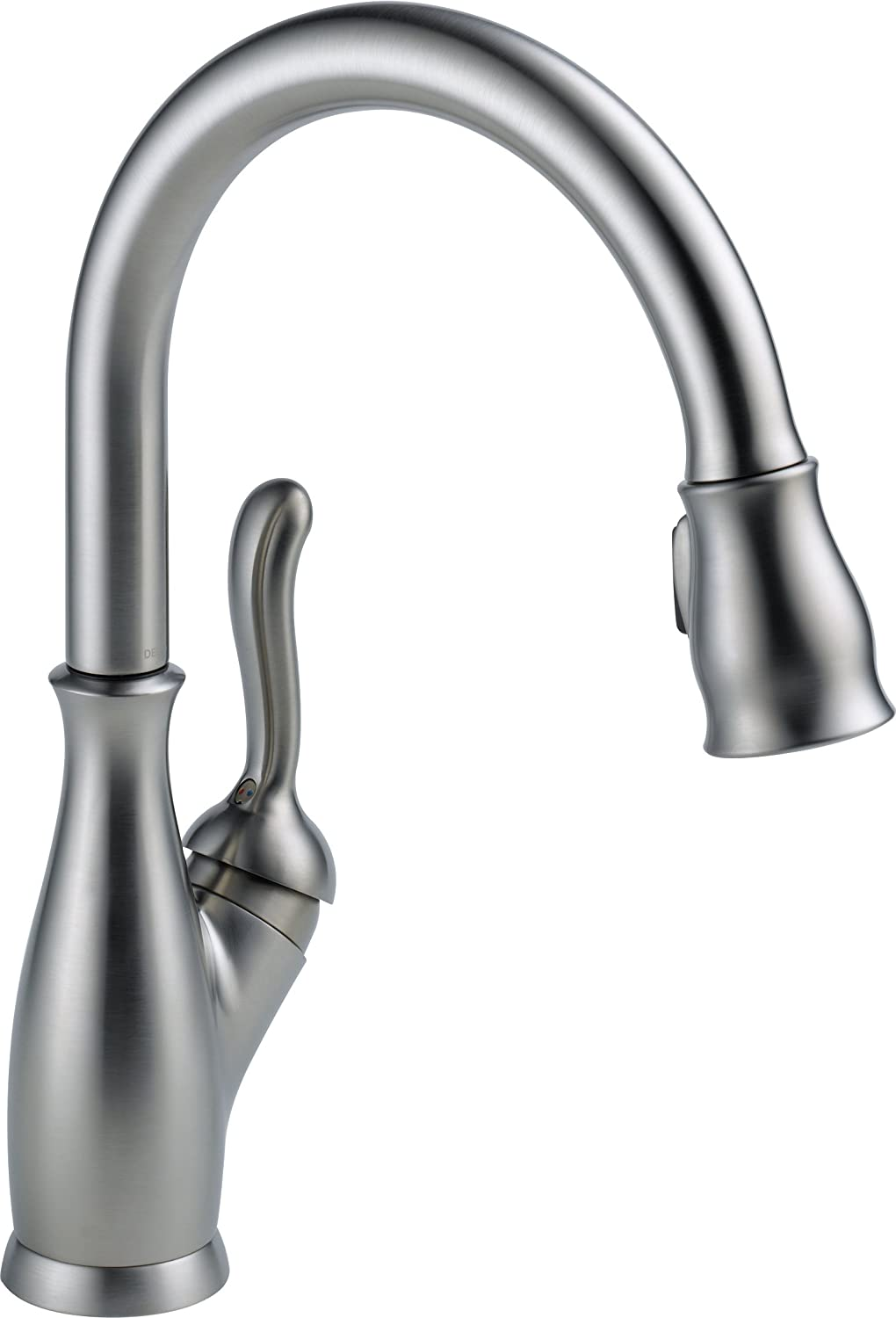 Delta Faucet 9178-AR-DST Leland Single Handle Pull-Down Kitchen Faucet, Arctic Stainless