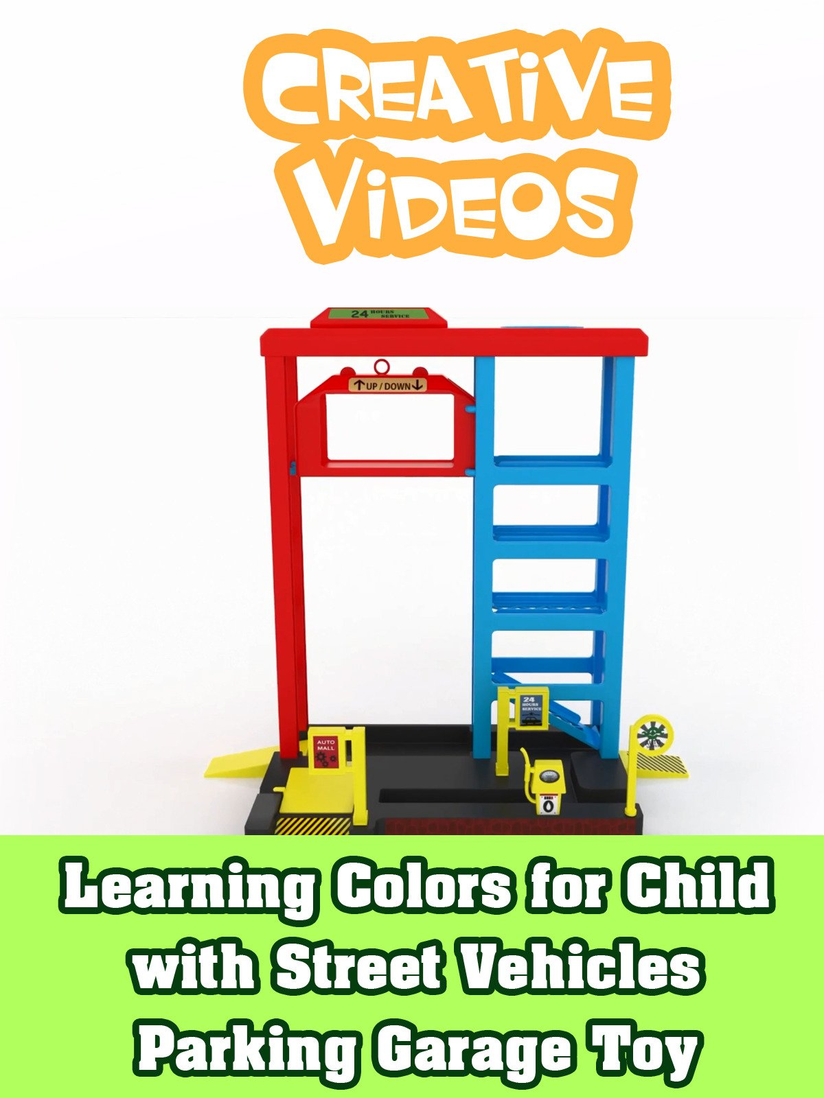 Learning Colors for Child with Street Vehicles Parking Garage Toy