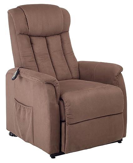 TV-Sessel mit Motor-Aufstehhilfe-Federkern-Delphi mit Federkern in braun