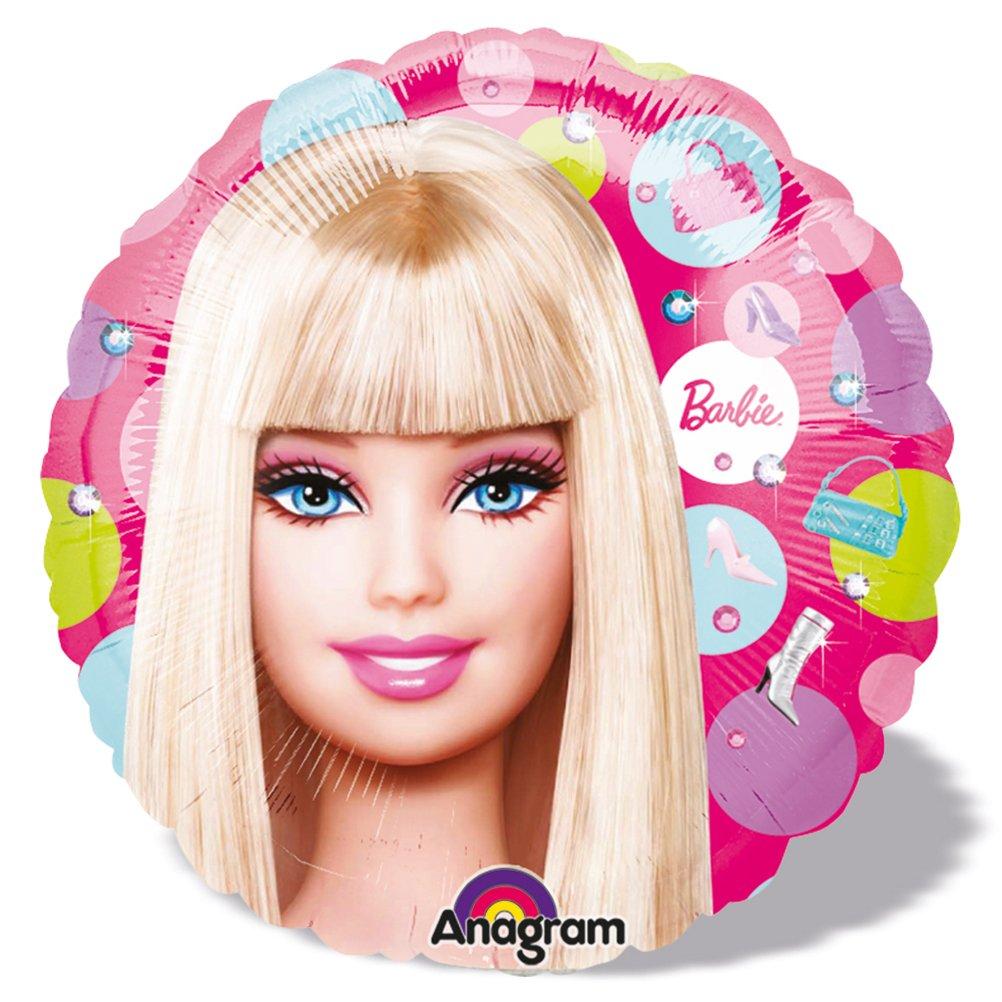16 x Folienballon Luftballon Heliumballon Barbie Portrait – 45 cm günstig online kaufen
