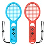 Tennis Racket for Nintendo Switch Joy-Con Controller,Accessories for Nintendo Switch Game Mario Tennis Aces Blue and Red - Only Use for Swing Mode on Nintendo Switch (Color: BlueRed)