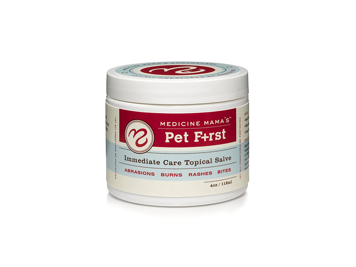Medicine Mama's Apothecary Pet First Immediate Care Topical Salve For Dogs, Cats, Horses, and Furry Friends used for Abrasions Burns Rashes Bites, 4 ounce джемпер medicine medicine me024emvqq10