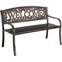 Leigh Country TX94108 Welcome Bench (Black/Gold)