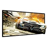 120 Inch Projector Screen Portable Outdoor Movie Projection Screens 16:9 HD 4K Home Theater Indoor Office tuscreen(Wrinkle-free Easy-Installation) (Color: 16:9 wrinkle-free matte white fabric, Tamaño: 120 inch)