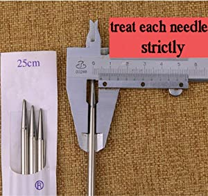 Knitting Needle Set,22PCS 2mm(B)-8mm(L) Straight Single Pointed Stainless Steel Sweater Needles Set(11Pair-11 Size,14 inches) with Knitting Needles Case (Color: 9.9 Pointed Needles+ knitting Bag) (Pattern and color of the bag at random)