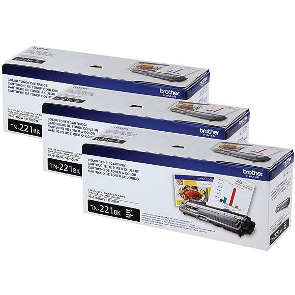 Genuine Brother TN221BK toner cartridges 2 PACK  TN-221BK