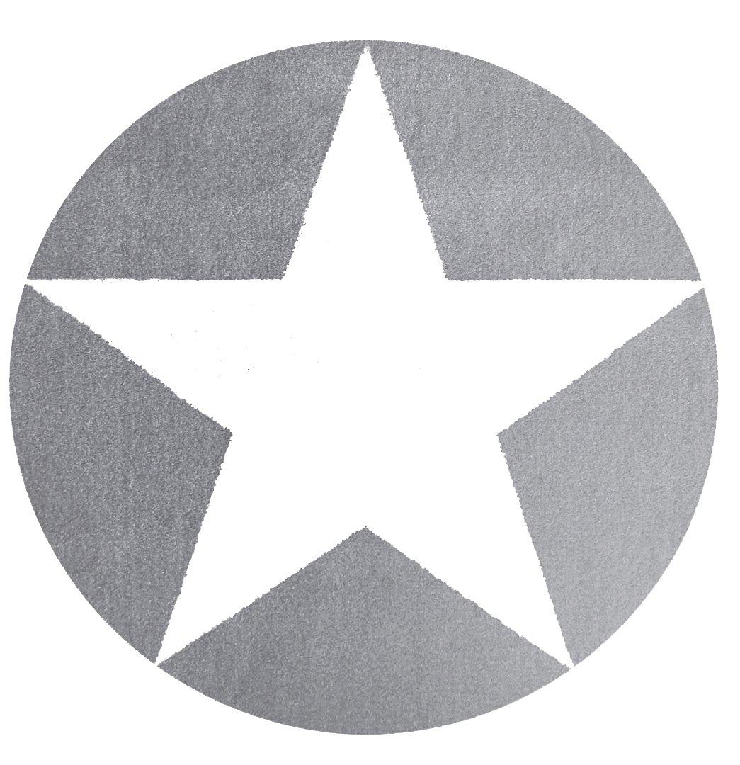 Kinderteppich Happy Rugs STAR silbergrau/weiß 133cm rund günstig kaufen