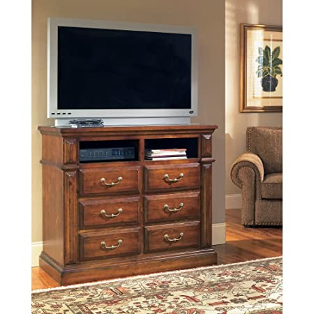 Progressive Furniture Torreon 6 Drawer Media Chest - Antique Pine