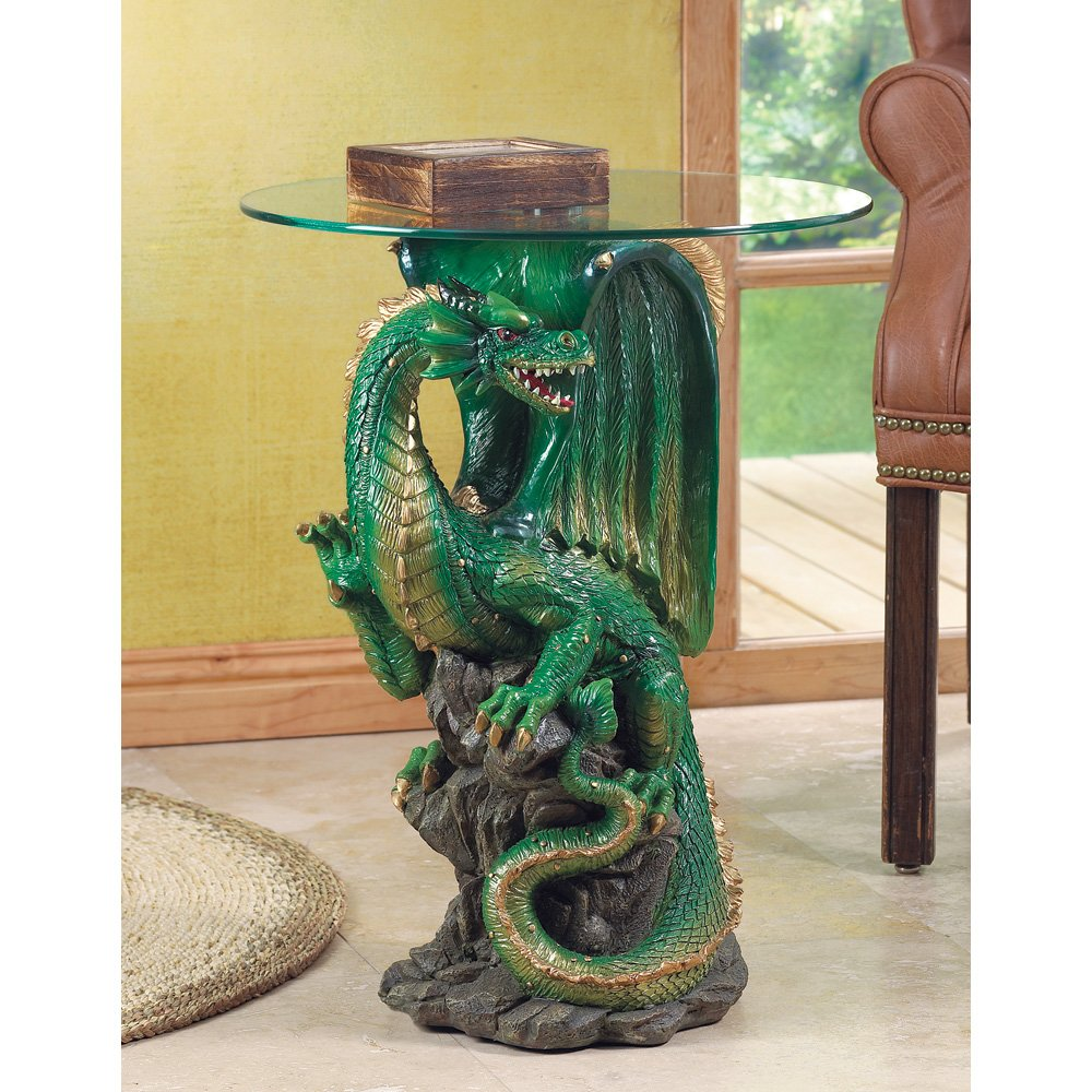 Mesmerizing dragon tables for gothic decoration - Guarding dragon accent table ...