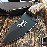 DEER CREEK FIXED BLADE GUT HOOK SKINNING KNIFE Hunting Bowie Skinner Wood + Free eBook by SURVIVAL STEEL
