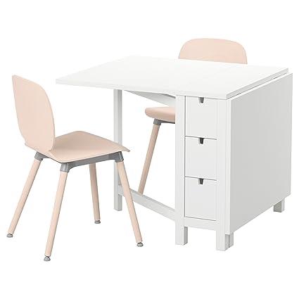 IKEA NORDEN / SVENBERTIL - Tisch und zwei Stuhle Weiß / Birke