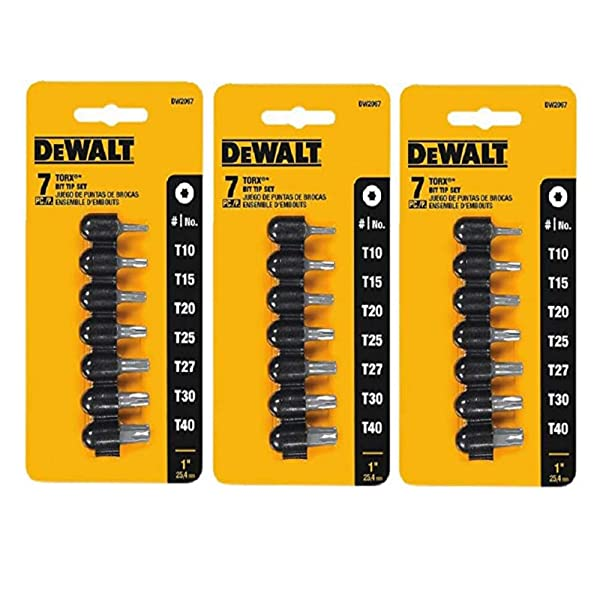 Dewalt DW2067 7 Piece 1 Torx® Screwdriver Bit Tip Set