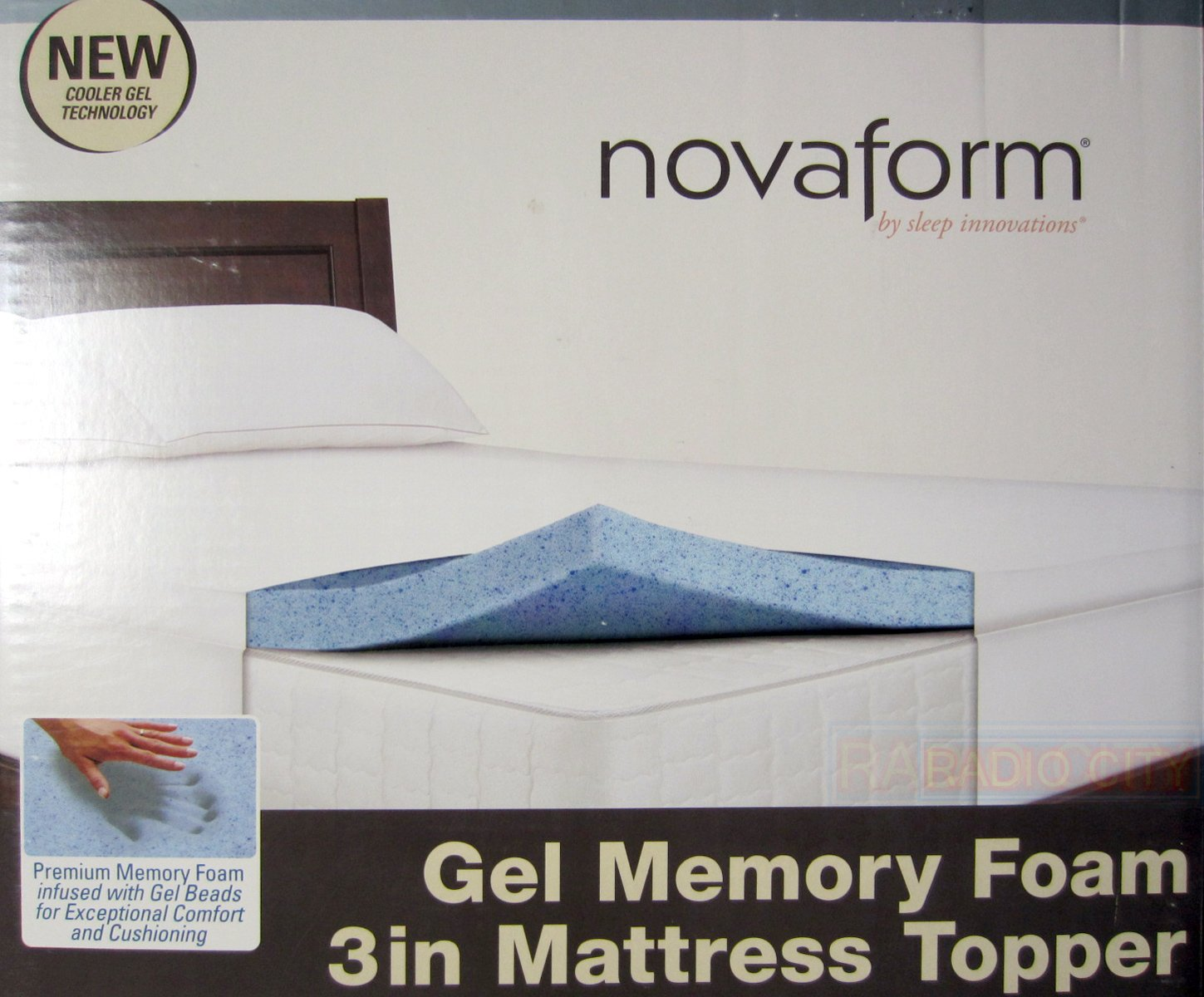 novaform 3u201d gel memory foam mattress topper