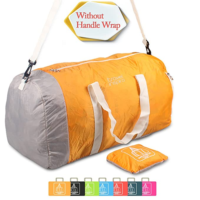 Foldable Travel Luggage Duffle Bag Lightweight for Sports, Gym, Vacation and Travel Duffel Bags(60l, Orange)