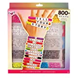 Tell Your Story Alphabet Bead Case Bracelet Making Kit (800+ Set) (Color: Assorted, Tamaño: 800+ Set)
