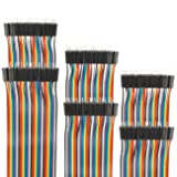 EDGELEC 120pcs 50cm Breadboard Jumper Wires Male to Male Multicolored Dupont Wire 3.9 inch 1pin-1pin 2.54mm Connector for DIY Arduino Raspberry PI 10 15 20 30 40 50 100cm Optional Ribbon Cables (Color: 120pcs Male to Male, Tamaño: 19.7 inch (50cm))