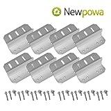 Newpowa 2sets Solar Panel Mounting Bracket Universal Flat Mounts Z Roof Wall (Color: silver, Tamaño: UZ Bracket 2 Sets)