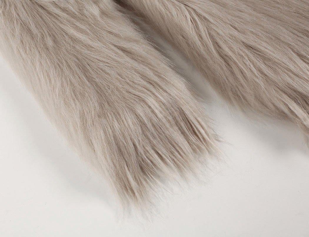 Naggoo Women's Fluffy Faux Fur Coat Winter Long Sleeve Warm Outerwear 4