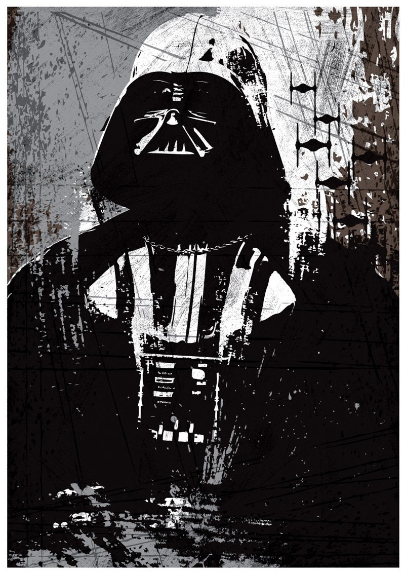 OHMYPOSTER Star Wars All Black Vintage Set Of 3 Posters 2