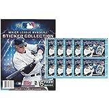 2018 Topps MLB Baseball Sticker Collection Starter Kit (10 packs & 1 album)