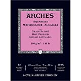 Arches Watercolor Paper Pad, 140 pound, Hot Press, 9