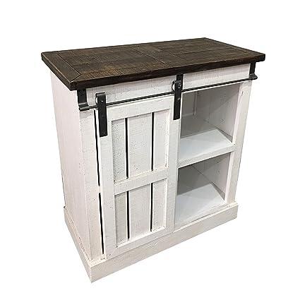 Art Deco Home - Kuchenmöbel RETRO, Holz, geweisst, 80 cm - 12269SG