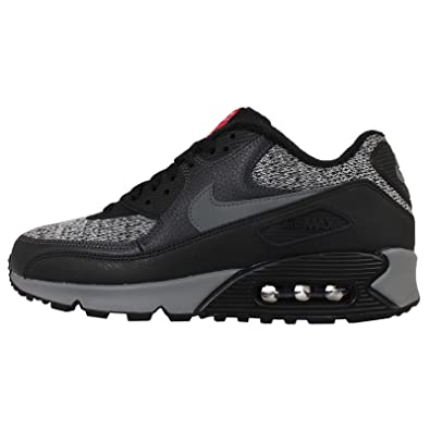 Amazon.com: Nike Men\u0026#39;s Air Max 90 Essential, BLACK/COOL GREY-ANTHRACITE-UNIVERSITY RED: Shoes