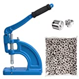 Yescom Generation II Free Stand Grommet Machine #2 Die and 600 Nickel Grommets Table Mount Hand Press Eyelet Hole Tool