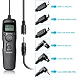 Neewer 6-In-1 Timer Shutter Release for Canon 700D 650D 550D 60D,5D MarkIII 6D 70D 7D MarkII,Nikon D4 D300s D700 D800,D90 D7100 D600 D5300 D610 D5100 D3200 D3100,Sony A7 A7S A7R A5000 A5100 A6000 (Color: black, Tamaño: 8.2 x 4.1 x 0.9 inches)