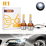 H1 LED Headlight Bulbs 12000LM 120W Cool White 6000K - High Beam/Low Beam/Fog Light Replacement Super Bright All-in-One Conversion Kit Plug & Play - 2 Yr Warranty (Pair)
