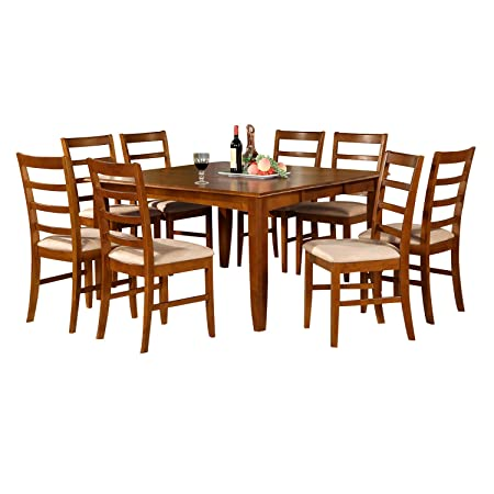 East West Furniture PARF5-SBR-C 5-Piece Dining Table Set