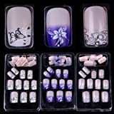 AORAEM 72 Mixed Assorted Style French Acrylic False Artificial Nail Tips(Glue not included) (Color: Three boxes of nail tips)
