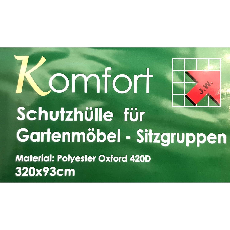 Schutzhülle Schutzhaube Abdeckplane für Gartenmöbel von MACO ca. 320x93 cm